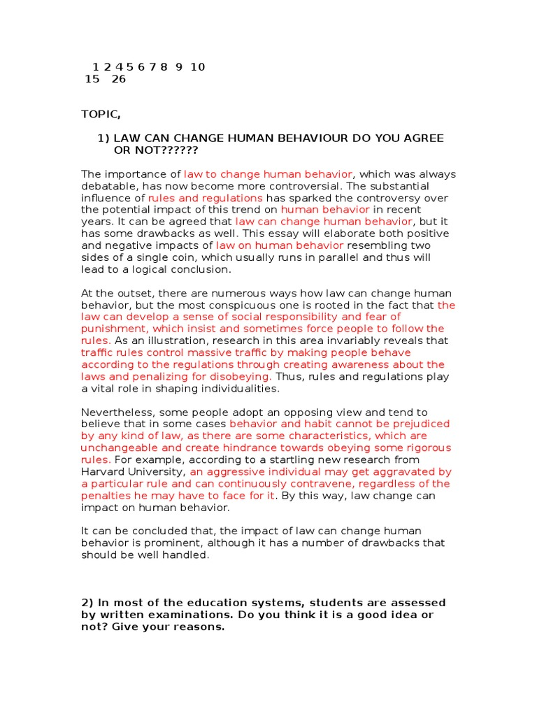 Analysis And Synthesis Essay  What Is A Thesis In An Essay also Topics For Synthesis Essay Essay Topics Answers  Human Behavior  Decision Making Sample English Essay