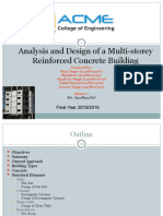 Analysis and design of a multi Storey reinforcedconcrete Raja Nagar