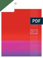 2015 оны үйл ажиллагааны тайлан