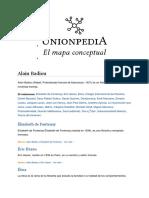Alain Badiou - Mapa Conceptual Unionpedia