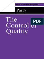 The Control of Quality