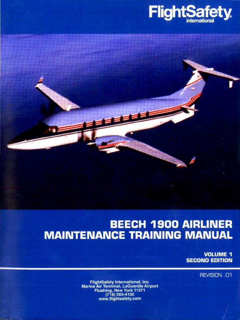 Beech 1900 Airliner Maintenance Training Manual v.i | Landing Gear | Jet  Fuel