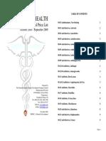 MoH Pharmaceutical Price List 2008 2009