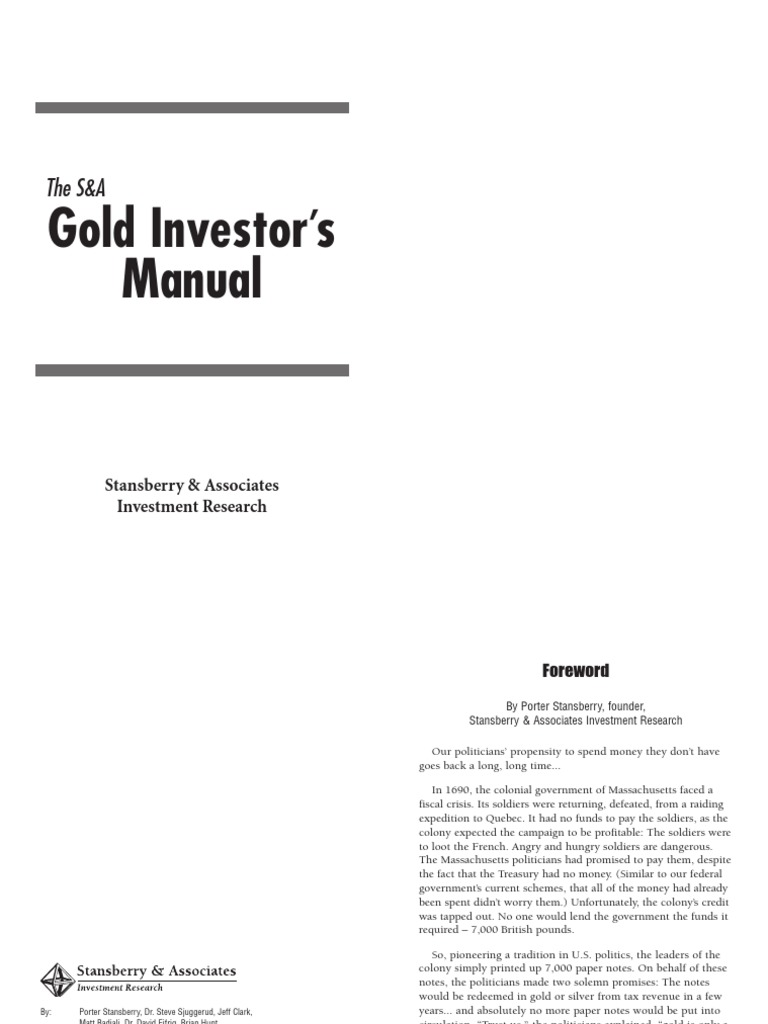 The Gold Investor's Manual   Gold As An Investment   Exchange Traded Fund