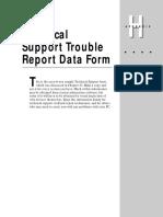 Appendixh (Technical Support Trouble Report Data Form)