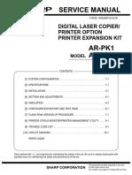 Sharp AR PK1 P11 Printer Option Service Manual