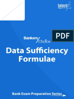 Data Sufficiency Formulae