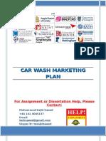 Car Wash Marketing Plan