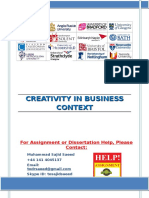 CREATIVITY IN BUSINESS CONTEXT