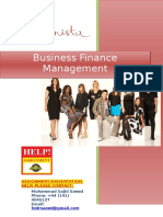 Business Finance Management