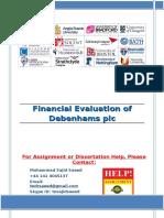 Financial Evaluation of Debenhams plc