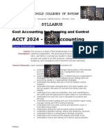 MELJUN Cost  Accounting Syllabus - Acctg 7