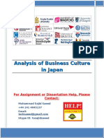 Analysis of Business Culture in Japan
