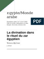 La Divination Dans Le Rituel Du Zar Egyptien