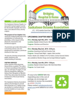Saskatoon Ostomy Association Bulletin for April 2016