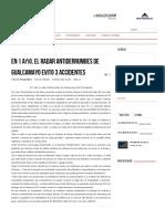 En 1 Año, El Radar Antiderrumbes de Gualcamayo Evito 3 Accidentes