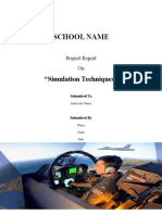Report on Simulation Techniques!