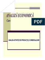 Analiza Activitatii de Productie Si Comercializare