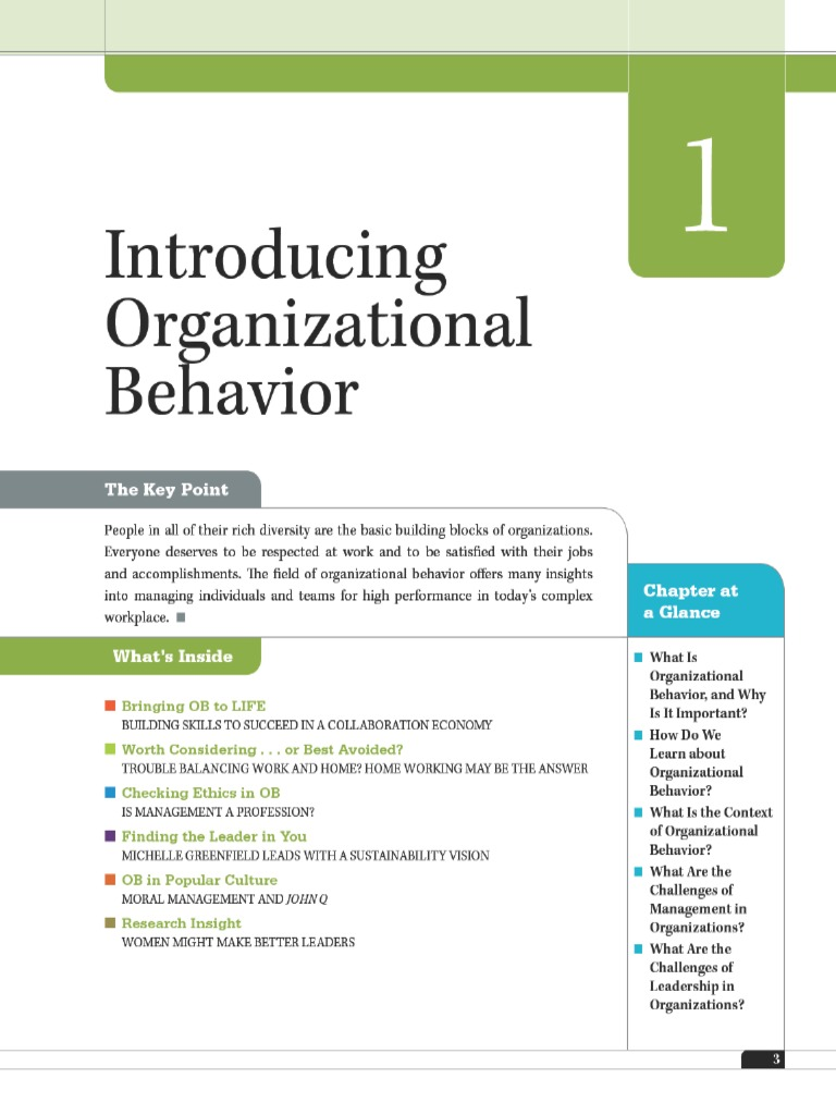 organizational behavior articles