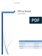 Adverse Effects of Fdi in Retail_sectione_group10