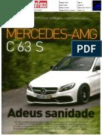 Mercedes-AMG C 63 S | Ensaio na revista Auto Foco