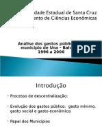 Análise de Gastos Publicos