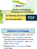 1 Pedagogy EL