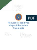 Recursos Cognitivos Disponibles Sobre Psicología