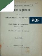 El Trazado Del Tunel de La Quiebra Alejandro Lopez