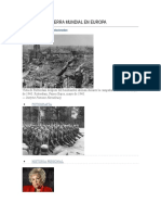 La Segunda Guerra Mundial en Europa