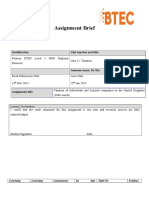 Assignment Brief Taxations