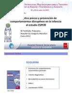 ESPERI DiagnósTIco precoz y prevención de+COMPORTAMIENTOS DISRUPTIVOS EN LA INFACIA