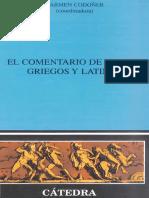 Carmen Codoñer, El Comentario de Textos Griegos y Latinos