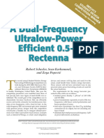 A Dual-Frequency Ultralow-Power Efficient 0.5-g Rectena