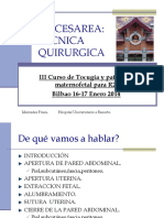 10 Tecnica Quirurgica de La Cesarea