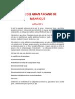 SERIE DEL GRAN ARCANO DE  MANRIQUE. ARCANO 5