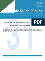 Iatrogenia Em Pacientes Idosos Hospitalizados CARVALHO FILHO ET AL 1998