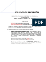 Procedimiento de Inscripcion