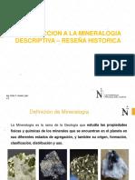 1.0 Introduccion a La Mineralogia Descriptiva-reseña Historica