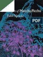 The Heights of Macchu Picchu - Pablo Neruda