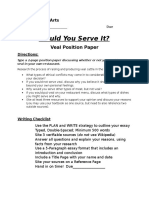 veal position paper