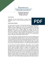 Philosophies & Histories of Science (Epistemology Assignment)