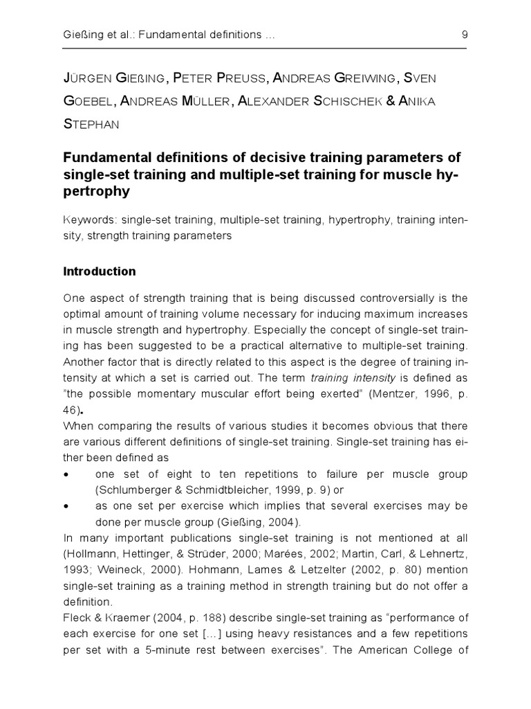 Fundamental Definitions Of Decisive Training Parameters For  Hypertrophy  3865375685 | Strength Training | Muscle Hypertrophy