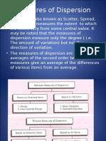 Measures of Dispersion Midsem Revision