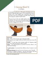 Sunray Shawl English Metric