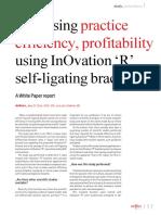 In OvationRArticlebyJerryClark IncreasingEfficiencyandProfitwithSelf LigatingBrackets