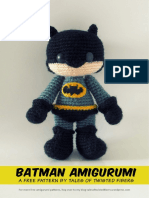 Batman Free Amigurumi Pattern Revised Tales of Twisted Fibers