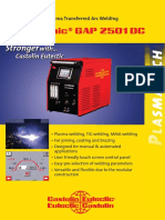 Eutronic Gap 2501 Plasma Transferred Arc Welding