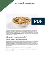 Por Qué Es Beneficioso Comer Granola