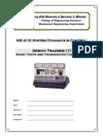 Lab10a_SERVO TRAINER 1 Basic Tests and Transducer Calibration
